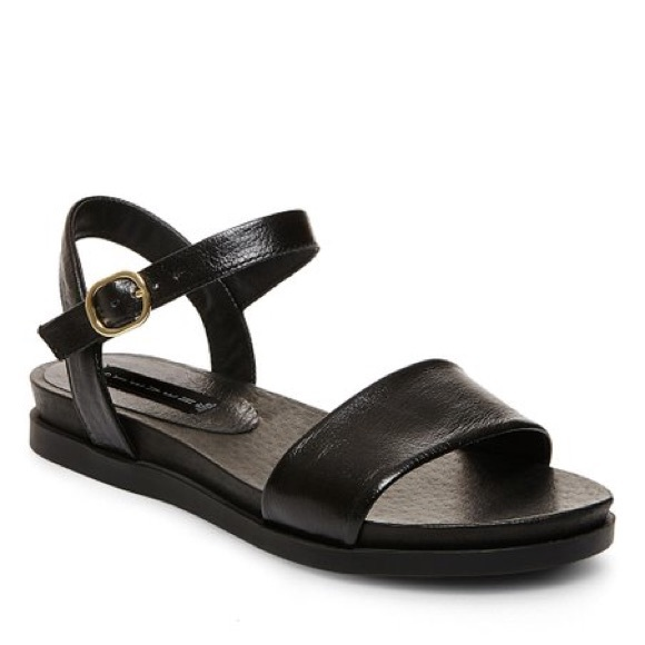 56c65692bde STEVEN Black Leather Karli Sandals. M 5b438ef84ab6331c90cffd72